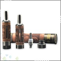 zigarettenstil vaporizer großhandel-Vaporizer Woodtank E Zigarette Zerstäuber 2ML Dual Bottom Coil Clearomizer Holz Stil Zerstäuber hohe Qualität DHL frei