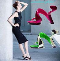 neuheit high heel schuhe großhandel-0245 - mit Geschenk 2016 Neuheit Frauen Bottomless High Heel Sandals 3,55 '' Fersen mit 0,4 '' Plattform Frauen Schuhe 6 Farben Freies Verschiffen