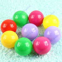 Wholesale Mario Baby - 50Pcs Lot Colorful Ball Fun Ball Soft Plastic Ocean Ball Baby Kid Toy Swim Pit Toy Free Shipping
