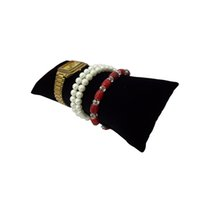 Wholesale Retail Displays For Watches - Retail Jewelry Bracelet Pillow Display Holder in Black Velvet Watch Pillow for Gift Box Large Size