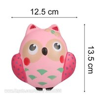 Wholesale Rose Children - Owl Slow Rising Simulation Jumbo Squishy Fidget Toy Sweet Lovely Scent Perfume Decoration Squeeze Bird Animal Children Freeshipping SQU016