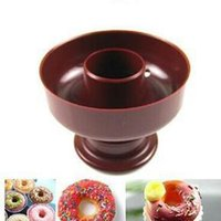 Wholesale Bakery Set - Free Shipping New Donut Maker Cutter Mold Fondant Cake Bread Desserts Bakery Mould Tool DIY Kitchen accessories