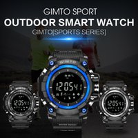 Vendita calda Top Brand Militare Sport all'aria aperta Smart Watch Uomo Impermeabile Diving LED Silicone elettronico Bluetooth Barometro da polso