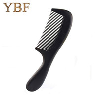 Wholesale Massage Products For Women - YBF Product High Quality Natural Material Chacate Preto Intensive tooth Wooden Hair Care Combs Massage Styling Tools For Women
