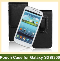 Wholesale Vertical Flip Leather Case S3 - Wholesale Newest Belt Clip PU Leather Vertical Flip Cover Pouch Case for Samsung Galaxy S3 i9300 Free Shipping