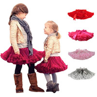 Wholesale Little Girl Dance - Puffy Cute Little Girls Tutu Tulle Skirt Petticoat Baby Short Skirts Dance Party Piston Skirt Children Princess Soft Underskirt