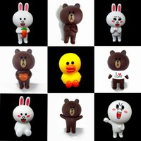 Wholesale Finish Rabbits - 2018 selling 13pcs set Minnie rabbit Brown bear Sally duck doll orn action figure toy 7-8cm Figures Randomly Send