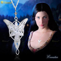 Wholesale Arwen Evenstar Silver - wholesale Bahamut 925 Sterling Silver Bahamut Lord of the Rings Arwen Evenstar Necklace Pendant