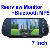 Wholesale Mirror Bluetooth Lcd - 7 Inch TFT LCD Car Mirror Monitor MP5 Bluetooth Car Reverse Rearview Touch Screen Monitor SD USB FM For DVD TV Parking Camera