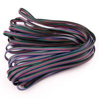 cables de extensión led rgb al por mayor-10M 10 metros RGB Cable de cable de conector de cable de extensión de 4 pines para 3528 5050 RGB LED Cable de extensión de iluminación de tira Accesorios de iluminación LED