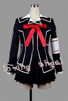 yuki dresses al por mayor-Vampire Knight Cosplay Dress Yuki Cruz Blanco / Negro Uniforme Tamaño Personalizado Envío gratuito