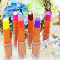 Wholesale luminous lipstick resale online - Colors Available Glow In The Dark Lipsticks Makeup Shiny Party Fluorescent Luminous Lip Stick Lip Gloss VDF33 P
