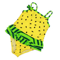 Wholesale China Kids Wear Wholesalers - Wholesale- 2016 girl one piece baby swimwear kids girls swim wear swimsuit toddler print cheap china clothes free shipping for WJS-3312-2
