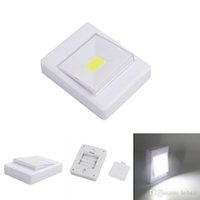 Wholesale Mini Magic Fairy - Magnetic LED Night Light Ultra Bright Mini COB Wireless Wall Light with Switch Magic Tape for Camp Lamp Indoor
