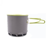 Wholesale Outdoor Heat Exchanger - Boundless Voyage Heat Exchanger Pot Energy Camping Gathered Pot Outdoor Cookware Portable Pot Cooking Cookware BDS202