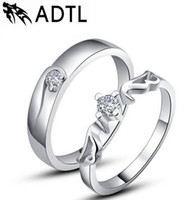 Wholesale Couples Hands - Korean couple rings s925 silver wedding ring Angels hand jewelry