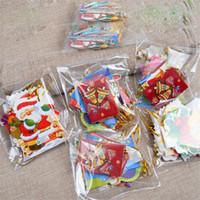 yılbaşı kartları baskı toptan satış-Noel Dekorasyon Kartı Baskılı Noel Dileğim Kartı Tatlı Noel Ağacı Süsler Kartları Hediye 3 stilleri sıcak