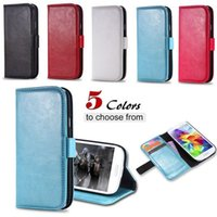 Wholesale Galaxy S3 Luxury Leather Case - S3 Luxury PU Leather Case Retro Wallet Book Cover For Samsung Galaxy S3 SIII i9300 Full Protect Bag With Card Insert Flip Case