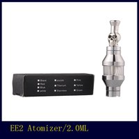 Wholesale Ee2 Coils - EE2 Skull Drip Tip Atomizer Metal Drip Tip Replaceable Coil Head Clearomizer for 510 eGo E Cigarette BY DHL ship
