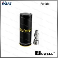 Wholesale dual file for sale - Group buy Uwell Rafale Tank ml Original Uwell Rafale Atomizer Dual Filing Design Anti Spit Back Protection Top Bottom Filling Clearomizer
