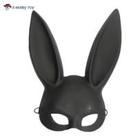 Wholesale Bunny Halloween Costumes - X-MERRY TOY Party Mask Masquerade Rabbit Mask Sexy Bondage Bunny Long Ears Carnival Halloween Costume Party