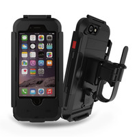 Wholesale Damping Bike - For IPhone 6 6s Waterproof Case Cover With Cycling Bike Bicycle Holder Damping 360 degree Rotating Holster For Apple IPhone 5 5s 6