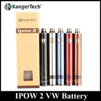 Wholesale Kangertech Atomizer Series - Original KangerTech IPOW 2 Battery 1600mAh 3-15W Variable Wattage EGO 510 Thread fit Kanger Genitank Aerotank Series Atomizer DHL Free