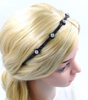 Wholesale Wholesale Fashion Jewellery Korea - Women Rhinestone Headband Girl New Fashion Korea Hair Jewellery Handmade High Quality Hair Accessories for Wholesale