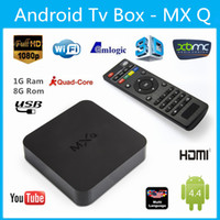 Wholesale Hd Video Movies - MXQ TV BOX Amlogic S805 Quad Core Android Video Stock Media Player Free Movie VS MXQ 4K MXQ PRO A95X R1 TX2 1pcs