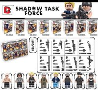 Wholesale Big Force - 8pcs lot Christmas Gifts Shadow Task Force Figures Toys Big Hulk Hobbies Classic Action Figures DIY Building Blocks Bricks Minifigures