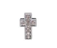 Wholesale Rhinestone Belt Cross - 20 PCS Fashion Rhinestone Slide Cross Charms DIY for 10MM Leather Cord Belt for sale #92164