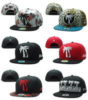 Wholesale Trees Snapback - Wholesale snapback caps Fashion Snapback hats caps with coconut tree in front