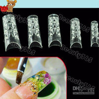 Wholesale New False Nail Tips Mosaic French Transparent Acrylic UV Gel Salon DIY