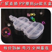 Wholesale Violin Fix - The new fixed grid of transparent plastic box finishing storage violin storage box beaded accessories