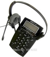 Wholesale Telephone Headset Corded Phones - Wholesale-Free Shipping Call Center Phone Dialpad Headset Telephone with Tone Dial Key Pad & REDIAL RJ9 plug headset office phone