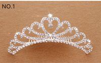 Wholesale Hair Band Crown Kids - Crystal Tiara Hair Band Kid Girl Bridal Princess Prom Crown Kid Girl Party Accessiories Bridal Princess Prom Crown Headband