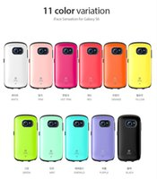Wholesale I Face Covers - Galaxy S6 iface case for iphone 6 i face case 2 in 1 candy color PC + Hard TPU back cover phone case for iphone 4 4s 5 5s 6 plus samsung S5