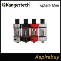 Wholesale Supporting Glasses - Authentic Kanger Toptank Mini Clearomizer 4ml Tank 0.5ohm Support RBA mini plus Stainless Steel Glass 22mm E Cigarette Atomzier
