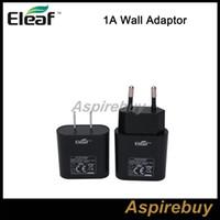 Wholesale Micro Usb Adaptor Cable - Original Eleaf iSmoka Wall Adaptor 1A Micro USB Battery Charger USB Cable Charger For Eleaf iSomka iStick 20W 30W 50W Mini 10W VW Box Mods