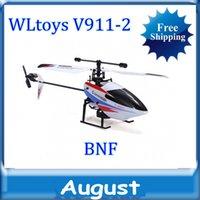 uzaktan kumandalı helikopter ücretsiz gönderim toptan satış-WLtoys V911-2 2.4 Ghz Uzaktan Kumanda 4CH tek bıçakları RC Helikopter v911 güncelleme sürümü LCD ışık rc helikopter Ücretsiz nakliye