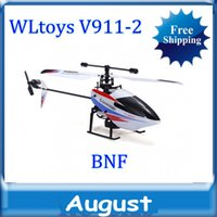 Wholesale Helicoptero V911 - WLtoys V911-2 2.4Ghz Remote Control 4CH single blades RC Helicopter v911 update version LCD light rc helicopter Free Shipping