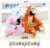 Lovely Flannel Winter Tier Anime Pink Kitty Katze Tigger Kinder Kinder Cosplay Halloween Kostüm Pyjamas Pyjamas Nachtwäsche