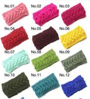 Wholesale Crochet Headbands For Sale - 200pcs hot sale 31 colors Fashion Warmer headbands for women Women's Wool Crochet Headband Knit Hair band Flower Winter D491