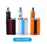Wholesale Ego 4ml - Joyetech Evic VT 60W TC Mod Kit Vaporizer Starter Full Kits With Elctronic Cigarette 5000mAh Battery 4ml Ego One Mega Atomizer