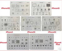 Wholesale Iphone Bga - Wholesale-7pcs lot Directly Heating BGA Reballing Tools Stencils Kit for iphone 6plus 6 5s 5c 5 4s 4 chips