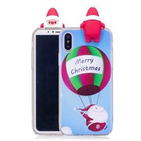 Wholesale Case For Iphone Funny - New Christmas Phone Case For iphoneX iphone8 7Plus Funny Lucky New Year Cover for iphone6s Plus 5s SE Case DHL Free