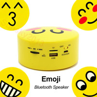 Emoji Portable Cartoon Bluetooth Mini Speaker Sem fio estéreo Subwoofer Lovely Smile Faces USB TF Card Mp3 Music Player Controle de voz FM