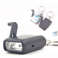 Wholesale Mini Dynamo Flashlight Keychain - Wholesale-ShopHub Affordable! Mini Dynamo Wind-up KeyChain 2-LED Torch Flashlight Content!