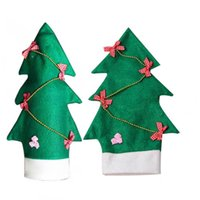 Wholesale Wine Bottle Outfits - New Household Xmas Tree Decorations Christmas Santa Outfit Coat Hat Wine Bottle Covers Bowknot Table Decoration Gifts party decoration
