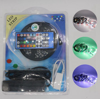 Wholesale dc controller pcb resale online - NEW M Roll DC12V LED m Black PCB RGB W LED Strip Waterproof Non Waterproof M Strip key IR Remote Controller V A Adapter